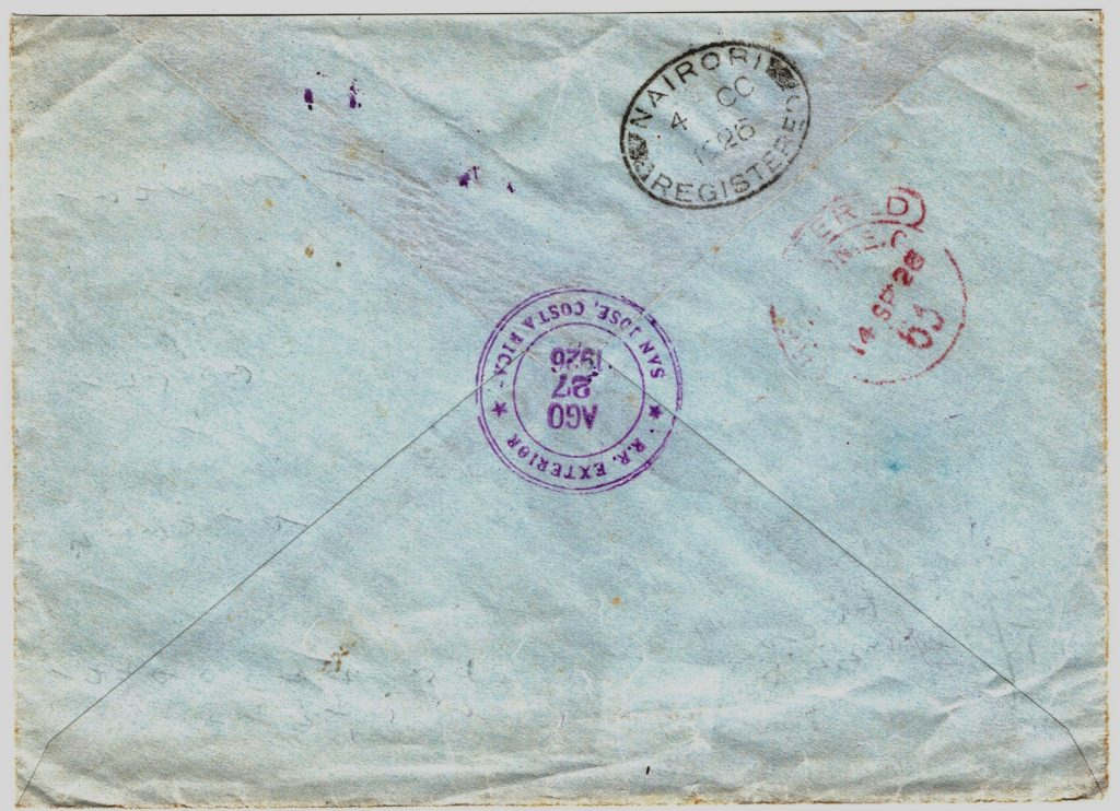 Cover from San José to Kenya