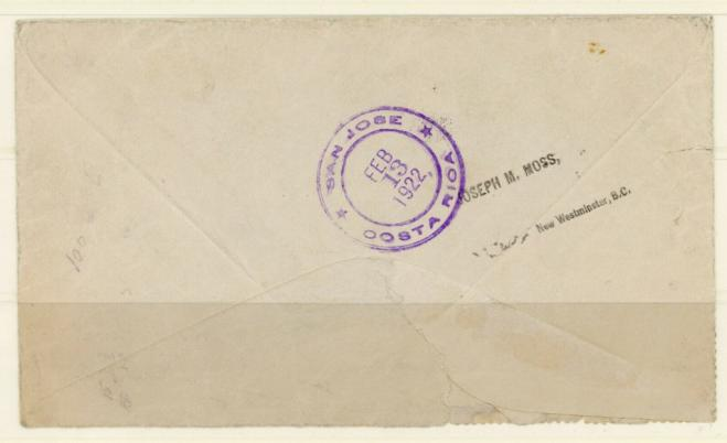 Cover with independence and postage due