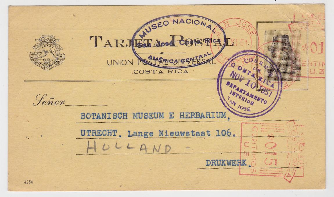 Museo Nacional Postal Card