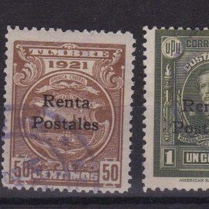 Costa Rica Scott RA1A/D Rentas postales