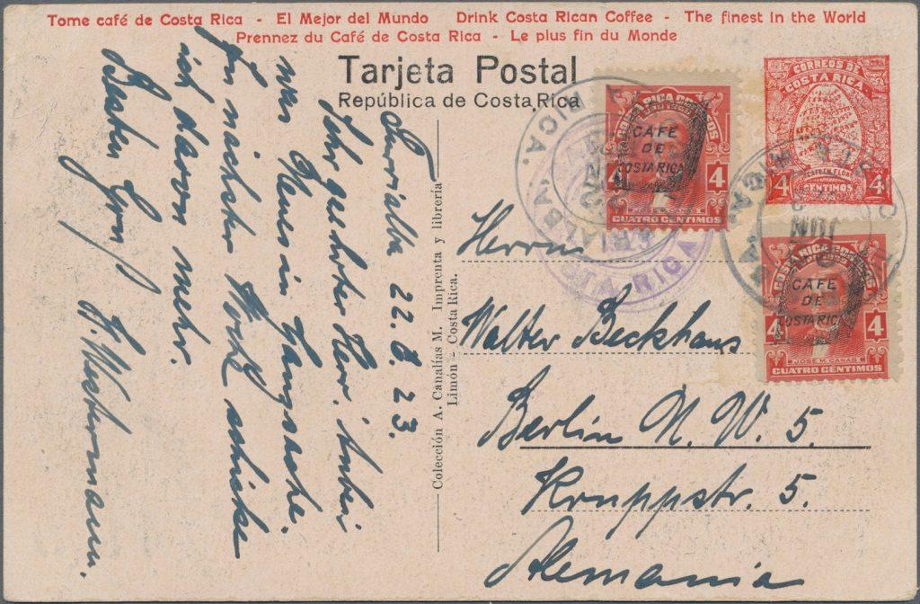 Canalías postal card